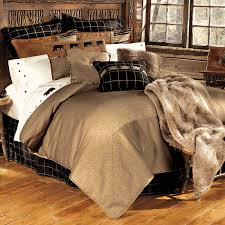 image of rustic cabin bedding accessories
