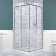 Bathroom: Vigo Shower Enclosure With White Paint Wainscoting Also ...
