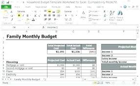 Free Microsoft Office Budget Template 5 Household N