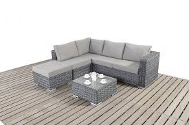 small corner furniture. Platinum Small Grey Rattan Corner Sofa Furniture E