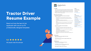 <b>Tractor Driver</b> Resume Examples & Writing tips 2021 (Free Guide)