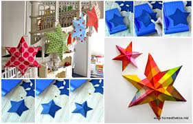 diy paper art projects learn how to make 3d paper stars video tutorial included  on paper wall art tutorial with diy paper art projects learn how to make 3d paper stars video