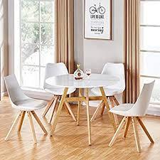 Designetsamaison Table à Manger Ronde Scandinave En Bois 100cm