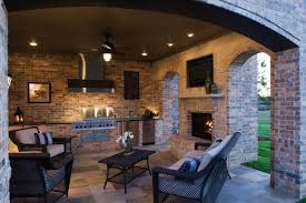 Outdoor Kitchen Outdoor Kitchen And Fireplace Designs Gooosencom