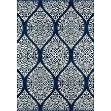gabriela navy geometric rug blue white on at