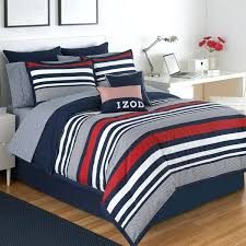 blue stripe bedding varsity 4 piece comforter set in red white and stripes duvet cover curtains