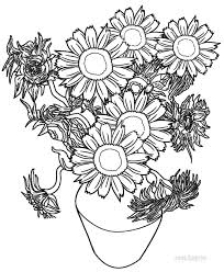 Small Picture Printable Sunflower Coloring Pages For Kids Cool2bKids Part 756