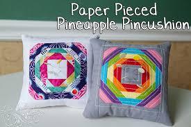 The Paper Pieced Pineapple Pincushion Tutorial &  Adamdwight.com