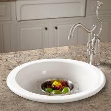 Risinger Fireclay Drop In Undermount Prep Sink Kitchen