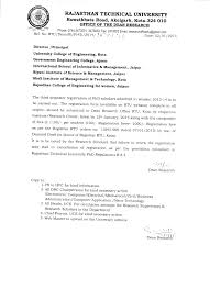 PhD   Rajasthan Technical University     Office order for PhD Scholars III Semester Registration admitted in session          middot  Research proposal