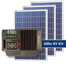 rv and marine solar packages weekender 300w rv solar panel kit