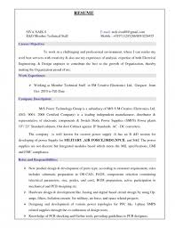 Sample Resume Mechanical Engineer Amazing Sample Of Mechanical Engineer Resume Free Professional Resume