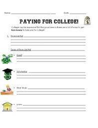 College Worksheet College Awareness Day All About The Finances Of College