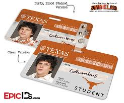 Id Epic Cosplay Texas Zombieland - Student University Ids Of 'columbus'