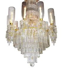 carved 19th 20th century gilt bronze and baccarat chandelier from the spelling manor for