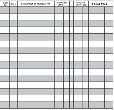 Checkbook Registers To Print 5 Easy To Read Checkbook Transaction Register Large Print Check Book Registers