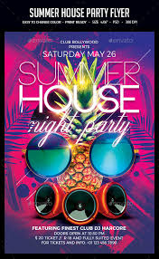 Party Flyer Beauteous Summer House Party Flyer By Studiorgb GraphicRiver
