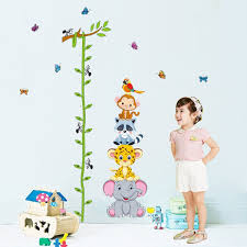 Child Height Chart For Wall Livegallery Cartton Tree Branches Vines Height Chart