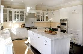 kitchens with white cabinets. Unique White Beadboard Cabinets In Kitchens With White