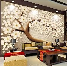 Wall Mural 3D Effect Wallpaper Embossed ...
