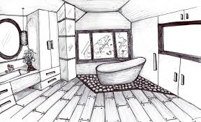 Contemporary Simple Bathroom Drawing Layout Plan Design For Renovation Intended Beautiful Ideas