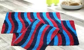 aqua blue bath rug cotton multi color wave rugs 3 pack colored striped mat facet bl