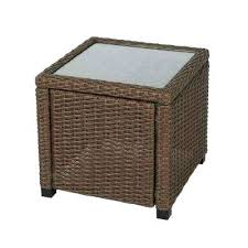 outdoor side table with storage elements resin suncast furniture