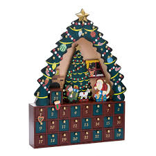 com kurt adler tree 24 piece advent calendar 16 inch home kitchen