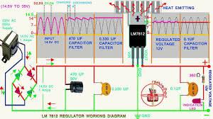 schematic 7812 voltage regulator the wiring diagram circuit diagram of 7812 voltage regulator vidim wiring diagram schematic