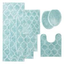 spa blue bri bath rug collection