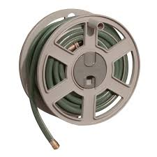suncast 100 ft garden hose capacity wall mounted sidewinder hose reel taupe new