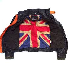 superdry motorcycle falcon darkest brown flag leather faux fur jacket small mens superdry hi tops