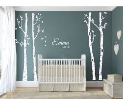 white tree decals for baby room wall