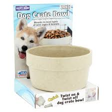 Happy Home Pet Products Dog Crate Bowl For Large Dogs, 1ct (Colors May Vary