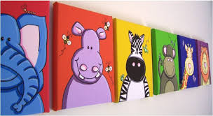 boy kid room decor baby nursery wall art original canvas painting  on little girl canvas wall art with lyglo canvas prints childrens bedrooms