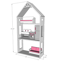 doll house furniture plans. American Girl Small Dollhouse Easy Plans Diy Wooden Dolluse Ana White Smaller Three Story For Wood Floor Plan Toys Doll House Furniture B