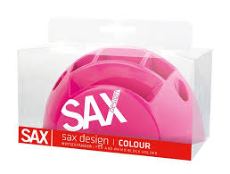 desk organiser sax design with separators blister pink