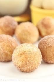 Snickerdoodle Donut Holes -- they taste just like the cookies! Baked, not  fried