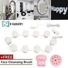 free gift led bulb mirror light vanity mirror lamp kit lens headlight bulbs kit