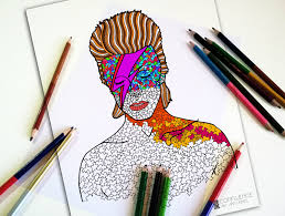 Small Picture Adult Coloring Pages Coloring for adults David Bowie