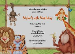 Free Printable Safari Birthday Invitations Free Printable Safari Birthday Invitations Tirevi