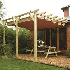 sienna wooden patio pergola garden