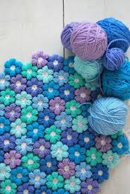 stunning crochet flower rug