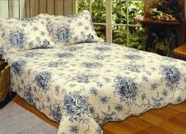 french country blue rose king quilt set cottage romantic interior french country bedding sets