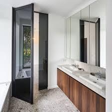 Bathroom Interior Door Interior Door Two Way Aluminum Glazed Skd47 Black Dark