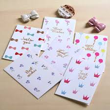 Us 4 74 5 Off Eno Greeting Party Small Greeting Cards Mini Birthday Cards Kids Thank You Cards In Cards Invitations From Home Garden On