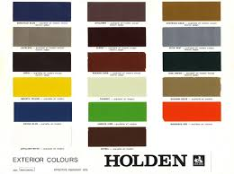 1974 1980 Holden And Torana Paint Charts Paint Panel
