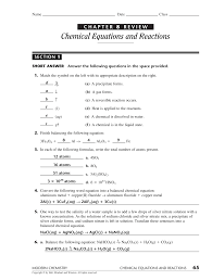 Types of chemical reactions quiz answer key. Http Brearleyhigh Kenilworthschools Com Userfiles Servers Server 7985 File Mr 20novak S 20chemistry Ch 208 20study 20guide 20 20answer 20key Study Gd Ak Pdf