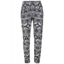 Patterned Joggers Adorable Womens Black White Patterned Joggers