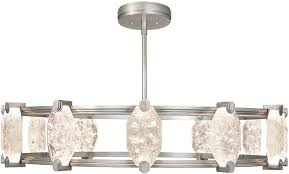 fine art lamps 872940 1st allison paladino contemporary silver leaf led ceiling chandelier loading zoom